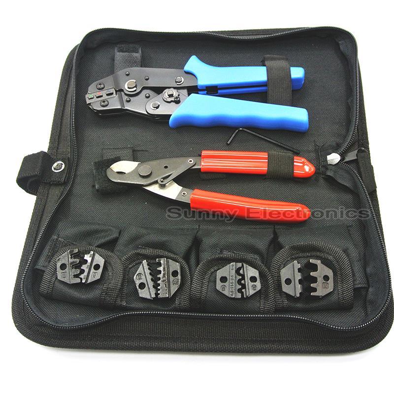Pince à Sertir Set/kit SN-02C avec coupe-câble, pince à sertir et remplaçable jeux de matrices de sertissage/mâchoires, terminal outils à main, pinces à sertir