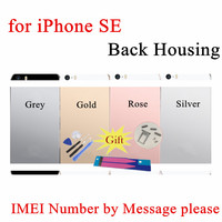 Chassis Back Housing Fundas For IPhone SE A1662 A1723Battery Cover Coque LOGO Buttons Sim Tray Sticker