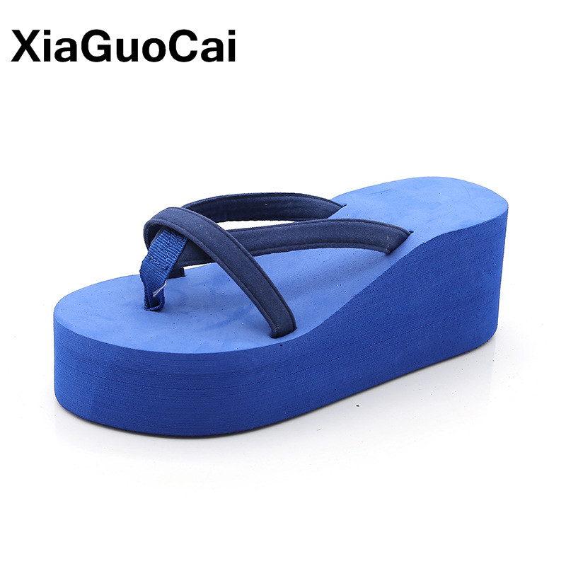 Summer Women Flip Flops Slippers Height Increasing Platform Women's Shoes Home Slipper Fashion Big Size Female Beach Sandals women sandals 2017 summer style shoes woman wedges height increasing fashion gladiator platform female ladies shoes casual