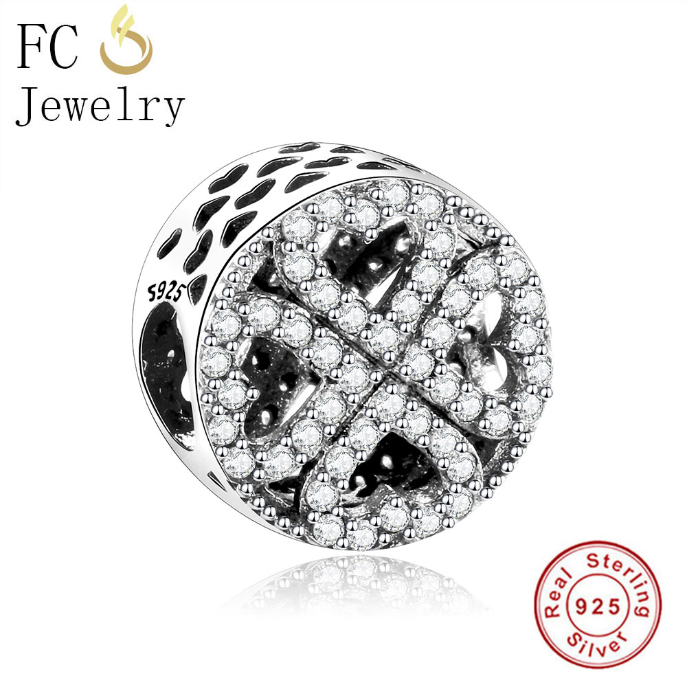 FC Jewelry 100% Real Authentic 925 Sterling Silver Petal Love Hearts Charm Bead Fit Original Pandora Charms Beads Bracelet Gifts