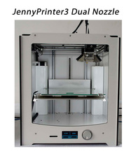 Newest JennyPrinter3 Dual Extruder Nozzle Auto Leveling 3D Printer DIY KIT Compatible With Ultimaker 2 UM2