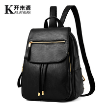 KLY 100% Genuine leather Women backpack 2019 New Female spring and summer student fashion casual Korean version of the