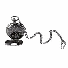 2017 Unisex Pocket Watch Roman Pattern Fashion Steampunk Retro Vintage Quartz Hollow Pointer with Roman numerals Display relogio