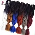 Ombre Braiding Hair 24 inch 100g/piece Synthetic Two Tone High Temperature Fiber ombre Jumbo Braid Hair Extension braiding hair