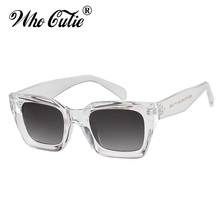 fc0ced3b0759ba QUI CUTIE 2018 Vintage Surdimensionné Transparent lunettes de Soleil Femmes  Rétro Designer Écaille Rivet Cadre Soleil Lunettes N..