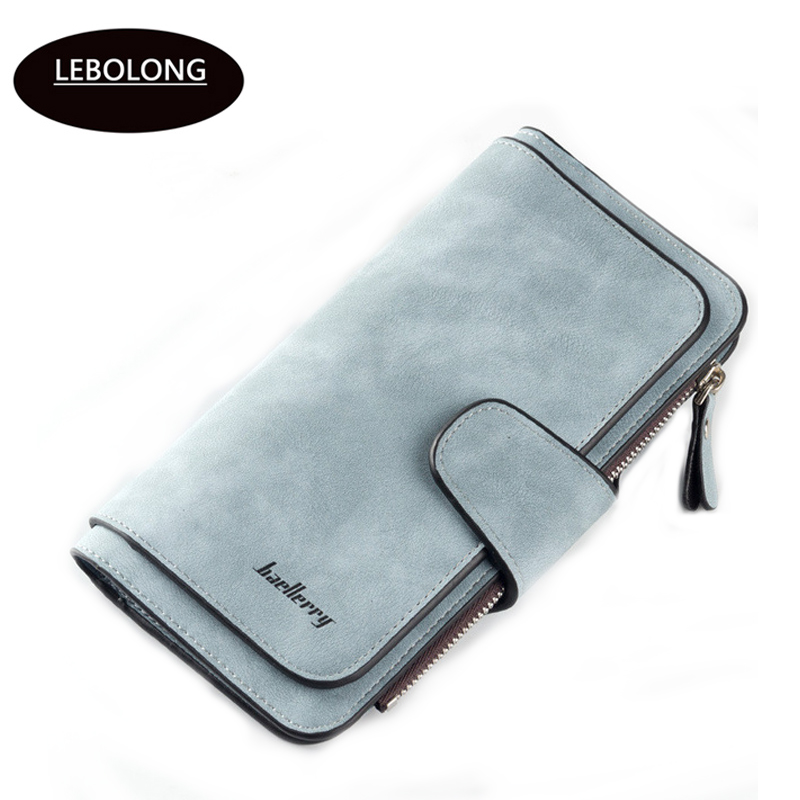 Hot sales Brand Wallet Women Scrub Leather Lady Purses High Quality Ladies Clutch Wallet Long Female Wallet Carteira Feminina(China)