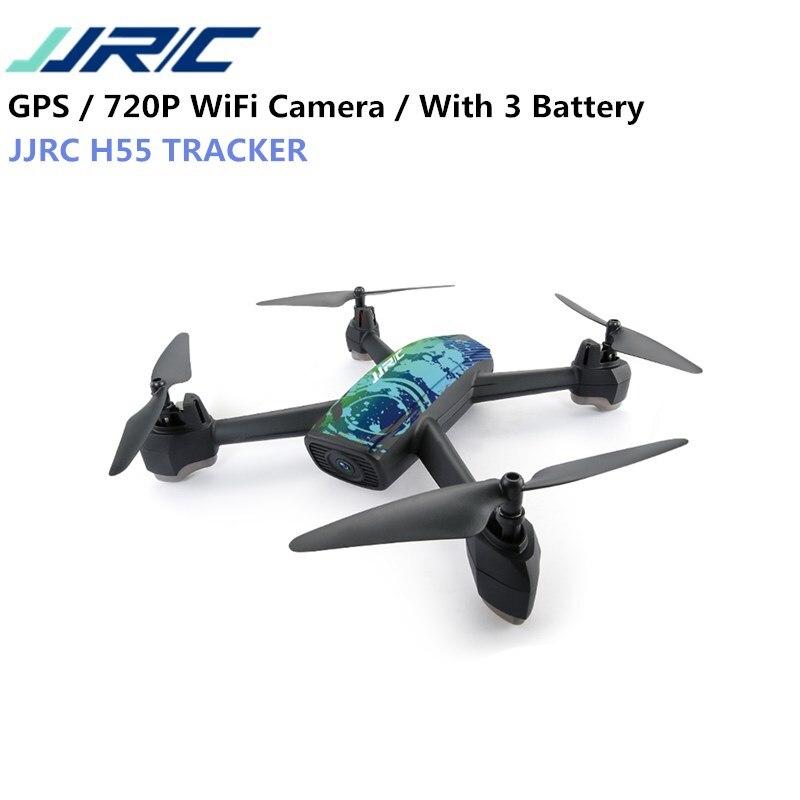 Jjrc H55 трекер WI-FI FPV с 720 P HD Камера GPS позиционирования Радиоуправляемый Дрон Quadcopter камуфляж RTF VS Нибиру E58 h37