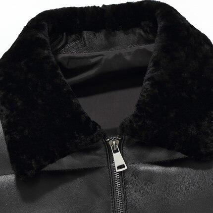 KMETRAM 2019, высокое качество, кожаный пуховик, мужской, роскошный, натуральная кожа, мужские s 100%, овчина, зимняя куртка, черный, 4XL, куртка, HH509 - 5