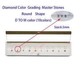 Las especificaciones del diamante peso cz master y D a M Color blanco redondos forma con láser Zirconia cúbica piedra Tester herramientas