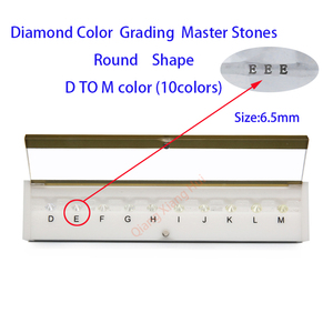 Image 1 - Specifications of  diamond standard cz master and D To M white Color round shape with laser Cubic Zirconia stone Tester Tools