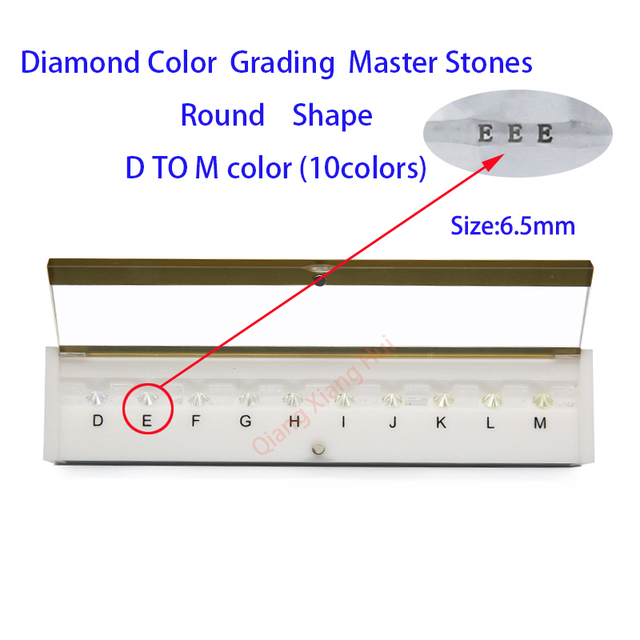 Specifications of  diamond standard cz master and D To M white Color round shape with laser Cubic Zirconia stone Tester Tools