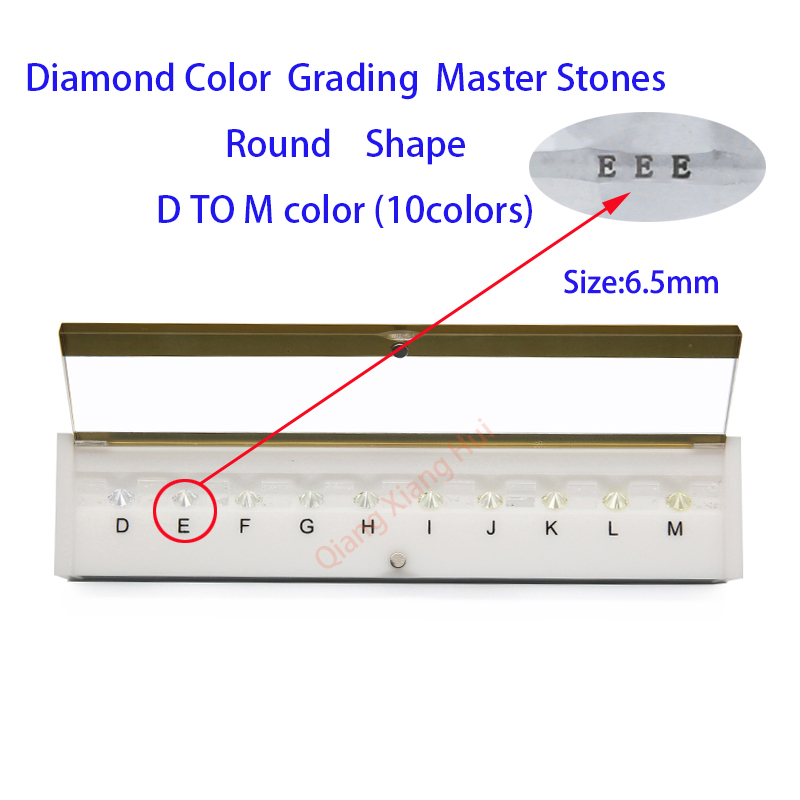 The specifications of  diamond weight cz master and D To M white Color round shape with laser Cubic Zirconia stone Tester Tools-in Jewelry Tools & Equipments from Jewelry & Accessories
