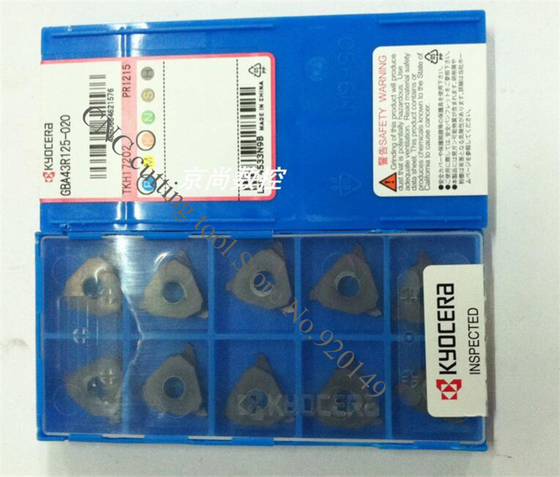 Indexable Grooving Insert 10 Pieces Kyocera GBA 43L150010 PR1215 Grade PVD Carbide
