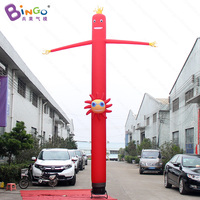 Personalized 6 meters red air dancer inflatable / car wash inflatable air dancer / inflatable advertising air dancer toys