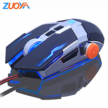 цена на ZUOYA Gaming mouse For Professional Gamer 8D Adjustable 3200DPI  LED Optical Mice USB Wired