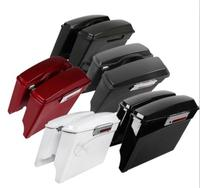Motorcycle 5 Extended Hard Saddlebags Saddle Bags w/ Lids For Harley Touring Models 93 13