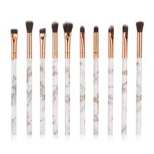 10pcs Marble Patten Makeup Brush for Cosmetic Powder Foundation Eyeshadow Lip Make up Brushes Set Beauty Tool maquiagem 10pcs make up palette set eyeshadow lip gloss foundation powder blusher puff tool