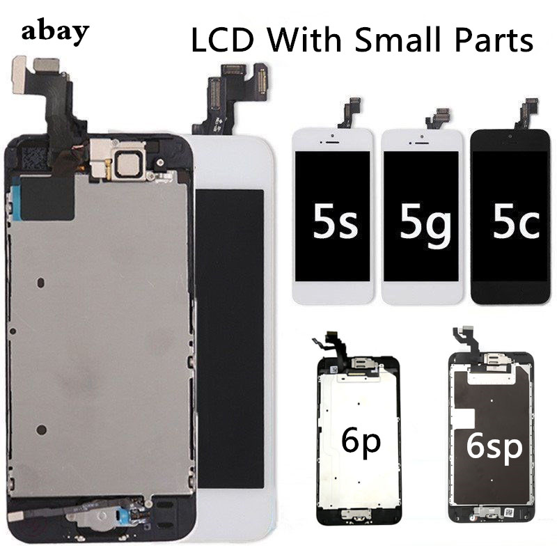 Complete Full Set pantalla For iPhone 5 5c 5s LCD Display Touch Screen Assembly For iPhone 6p 6sp LCD+Home Button&Camera image