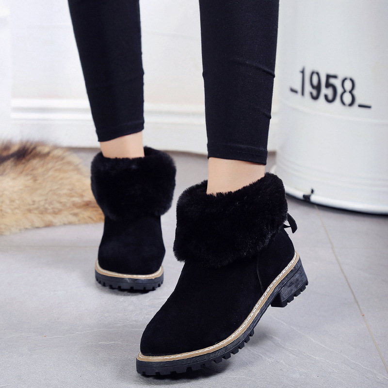 2017 Fashion Women Winter Snow Boots keep Warm Boots Ankle boot Snow Shoes Women's Outdoor Snow Boots Round Toe