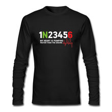 2018 Hot Koop fashion Custom 1N23456 jonge man crew hals lange mouw T-shirt 1 N 2 3 4 5 6 comfortabele Alle Katoen Tees(China)