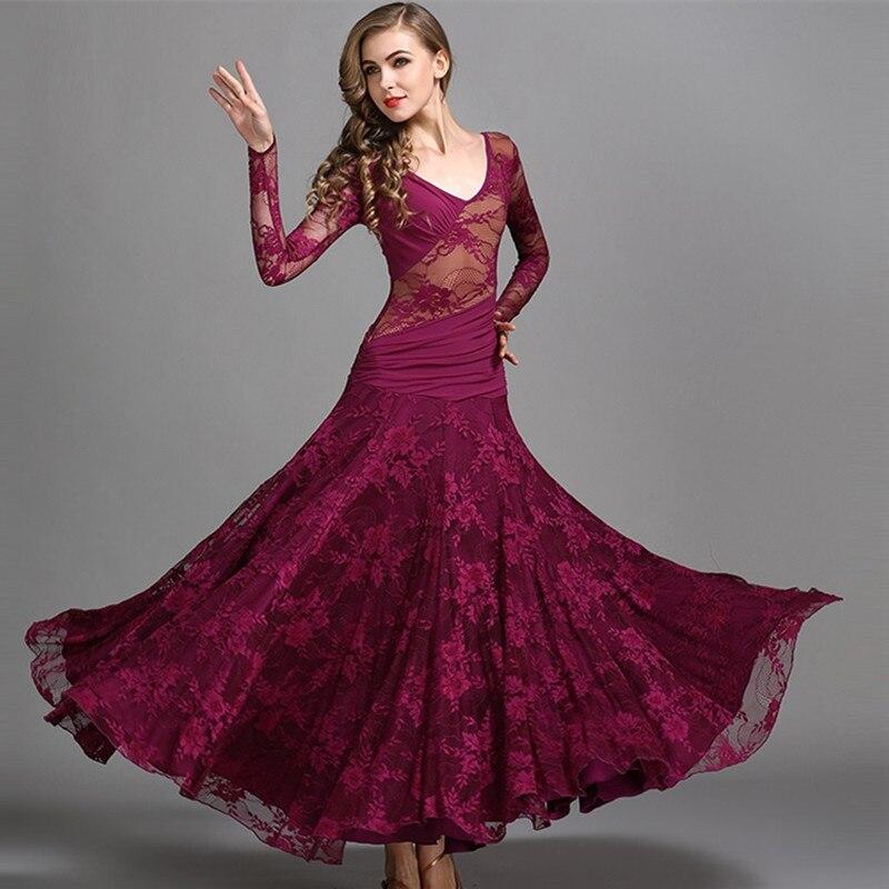 Waltz Dress Rumba Smooth Ballroom Dresses Standard Social Dress Ballroom Dance Dresses For Sale Spanish Costume Flamongo Lace