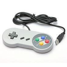Free Shipping Mini USB Retro Classic Gamepad Joypad Controller For PC/MAC Super Nintendo Games