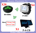 Wireless Calling Waiter System for Coffee shop Restaurant Service System Including Menu Display,Pager Watch,Bell Button