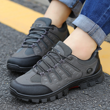 JXGXSX Fashion Autumn Waterproof Male Casual Outdoor Non slip Sneakers Men Wear resistant Travel Breathable Trekking Work Shoes