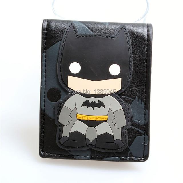 Animated cartoon wallet Pop Heroes Toon Batman Brieftasch Q version Batman wallet young students personality wallet