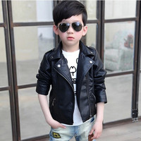 Kids clothes Boys Winter outerwear Girls Warm PU leather jacket Casaco Girls faux fur jackets Children high quality tops