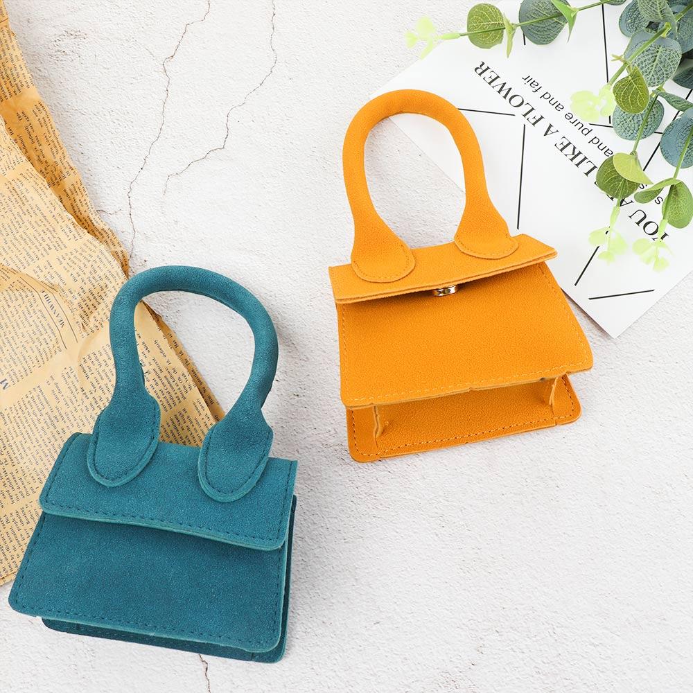 1PC Mini Square Handbag Fashion Simple Designer Kids Girls Scrub Shoulder Bag Crossbody Female Removable Shipping Bag Women Kore