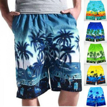DoreenBow Printed Tree Patterns Fashion Summer Style Hot Beach Leisure Shorts Men's Breathable Beach Shorts Big Size XL, 1 Piece