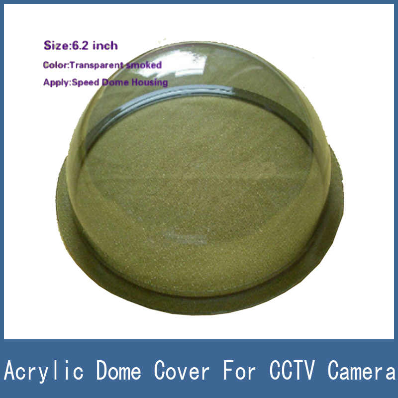Newest 6.2 Inch Clear Transparent Speed Acrylic Housing / Dome Cover For CCTV Camera newest 6 2 inch clear transparent speed acrylic housing dome cover for cctv camera