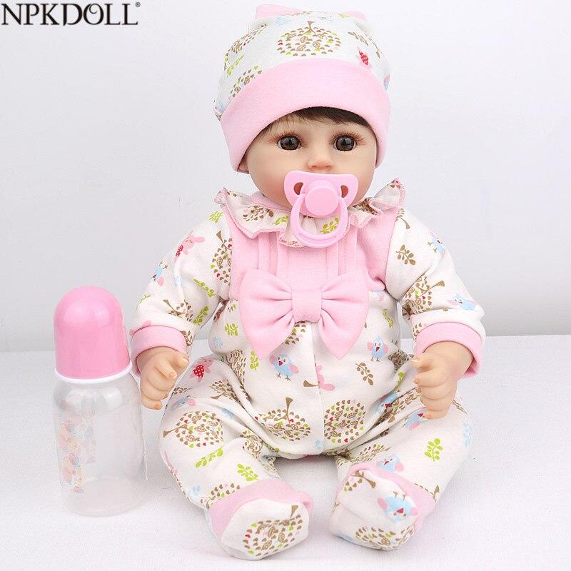 NPKDOLL date Silicone souple Reborn bébé poupée cadeau pour enfants jouets pour filles 18 pouces poupée 45 cm réaliste nouveau-né Bebes Reborn