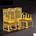 3D três - quebra-cabeça tridimensional diy handmade mobiliário retro metal montado kit modelo enfeites criativos jugetes crianças