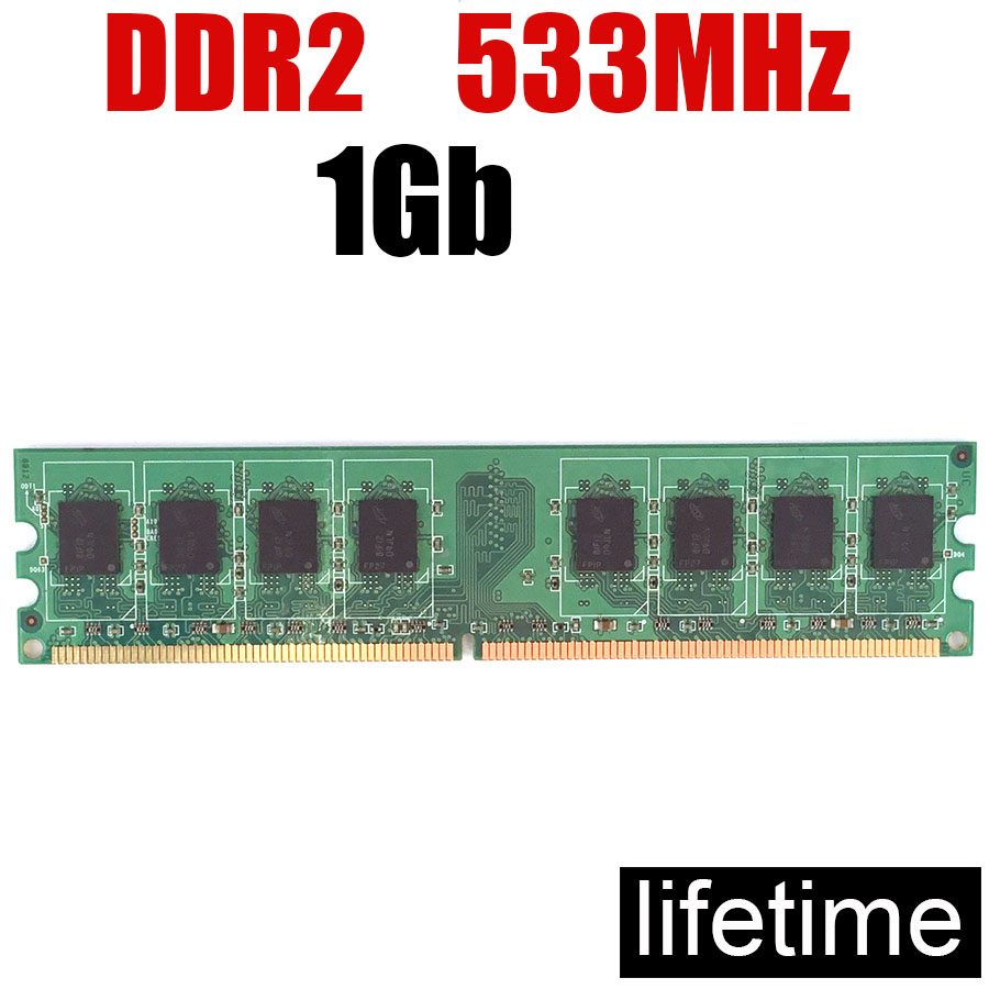 RAM 1 Gb оперативная память DDR2 533 1 Gb 2Gb 4Gb DDR 2 1 Gb/для ПК DIMM 1 Gb ddr2 533MHz 4G 2G 1G 667 800 (для intel и amd)