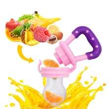 1PC Baby Girl Teether Nipple Fruit Food Mordedor Bite Silicone Teethers Safety  Feeder Bite Food Nipple Teether Oral Care 4-12M