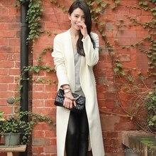 Woman White Embroidered Palto Down Coat Winter Autumn Long Warm Wool Jacket Manteau Femmee Fake pearl Button Korea Cloak Woolen