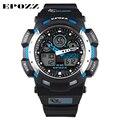 Epozz g стиль синхронный цифров движения часы мужчины бренд класса люкс 100 м водостойкие orologio uomo рождественский подарок