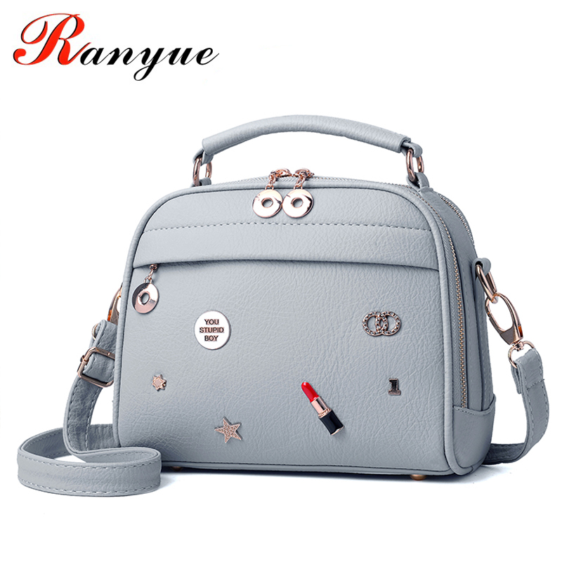 RANYUE Small Tote Bags Handbags Women Famous Brands PU Leather Crossbody Bags For Women Luxury Flap Messenger Bag Girls 2017 vintage punk tassel shoulder bags pu leather handbags women messenger bag casual tote bag small crossbody bags