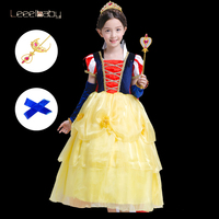 Daylebaby Girl Snow White Costume Dress Up Princess Dress Halloween Fancy Party Dress Graduation Gown Christmas Special Occasion
