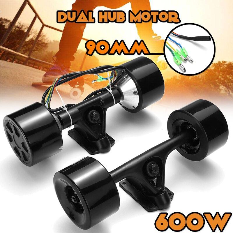 Kit de moteur de moyeu de Scooter à Double entraînement 600 W haute puissance DC télécommande de moteur de roue sans brosse pour la planche à roulettes électrique