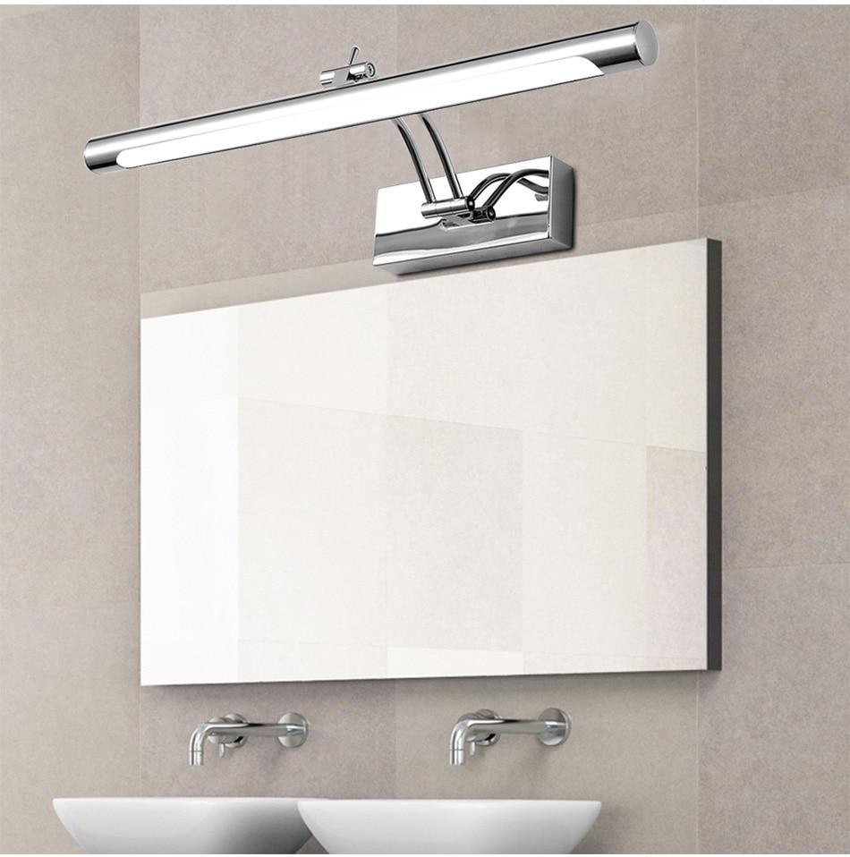 LED Waterproof Mirror Front Light 5W/40CM 7W/46CM 12W/55CM 18W/70CM AC90-260V Cosmetic Acrylic Wall Lamp Bathroom LightingLED Waterproof Mirror Front Light 5W/40CM 7W/46CM 12W/55CM 18W/70CM AC90-260V Cosmetic Acrylic Wall Lamp Bathroom Lighting