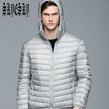 Сверхлегкий 90% Белых Мужчин Утка Вниз Зимняя Куртка Doudoune Homme Пальто Водонепроницаемый Вниз Парки Верхняя Одежда С Капюшоном