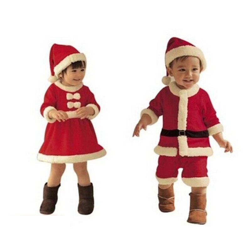 2018 children christmas clothing set 12m 3y baby boys girls christmas suit and dress costumes infant clothes p209