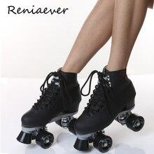 Роликовые коньки для девочек, Классическая двухрядная обувь для катания на роликах, обувь с 4 колесами, Уличная обувь для катания на роликах
