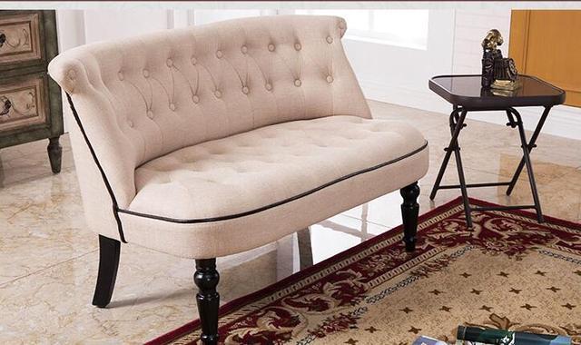 European Style Upholstered Loveseat Two Seater Sofa Living Room