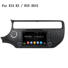 Support Original Car Rear Camera And Amplifier And USB Android 5.1.1 Car DVD Player GPS Navi Stereo System For Kia K3 / RIO 2015