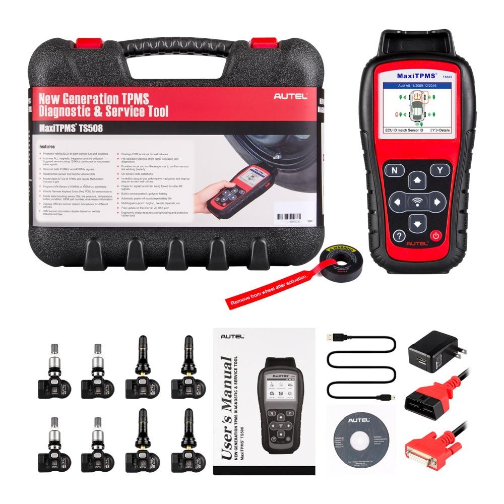 Image 2 - Autel MaxiTPMS TS508K инструмент для мониторинга давления в шинах TPMS 4 шт. 433 МГц + 4 шт. 315 МГц Автомобильный диагностический инструмент автомобильная Система сканер-in Тестеры давления и вакуумные тестеры from Автомобили и мотоциклы on