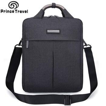 Office tassen voor mannen werken tas portafolio hombre zakelijke Waterdichte Grijs Zwart Werkende man Data Notebook schouder Messenger Bag